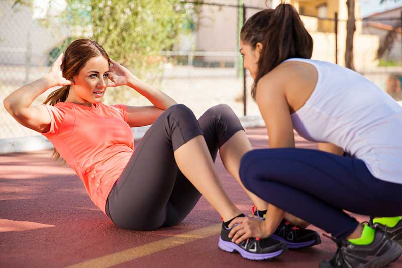 Finding a good personal trainer or working out with a friend